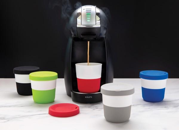 PLA hrnek coffee to go 280ml - Modrá