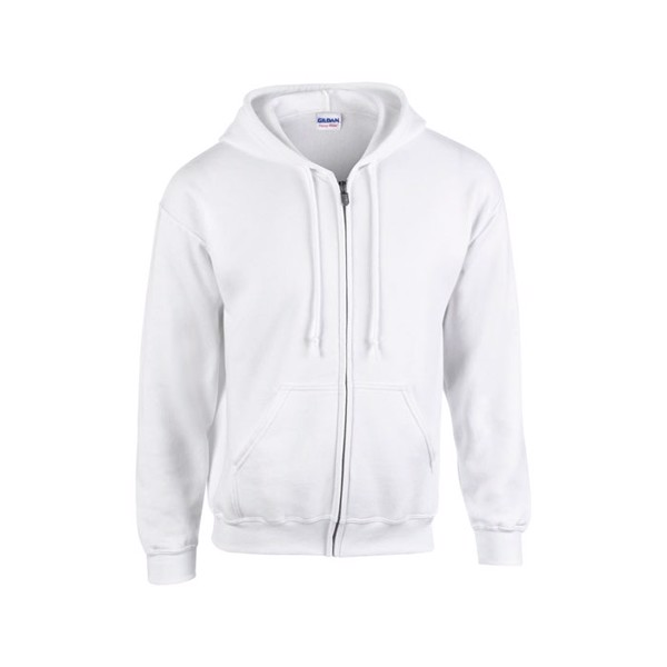 Herren Sweatshirt 255/270 g/ Full Zip Hooded Sweat 18600 - White / L