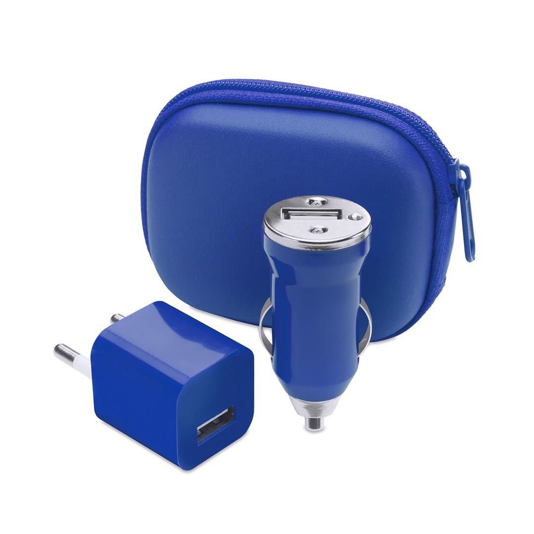 Set Carregador USB Canox - Azul