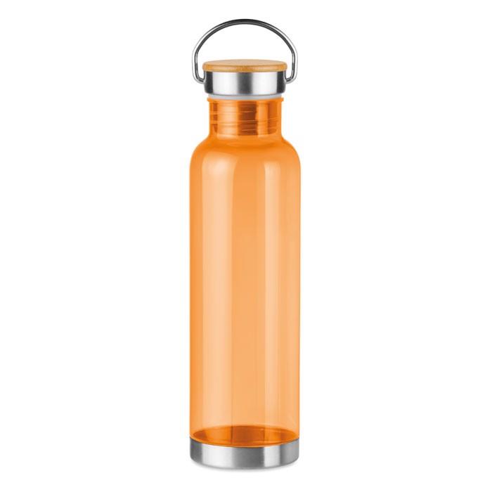 Tritan 800ml bottle bamboo top Helsinki Basic - Transparent Orange