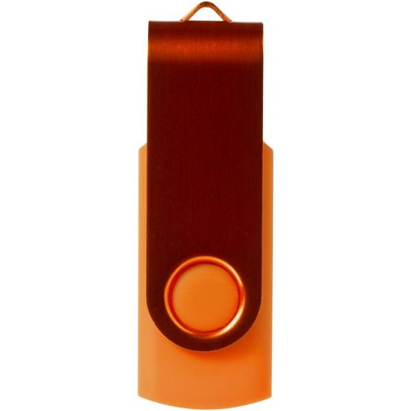 Rotate-metallic 4GB USB flash drive - Orange