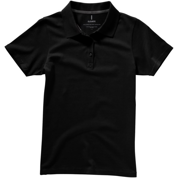 Seller short sleeve women's polo - Solid Black / M