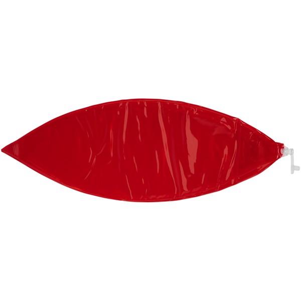 Průhledný plážový míč Ibiza - Transparentní červená