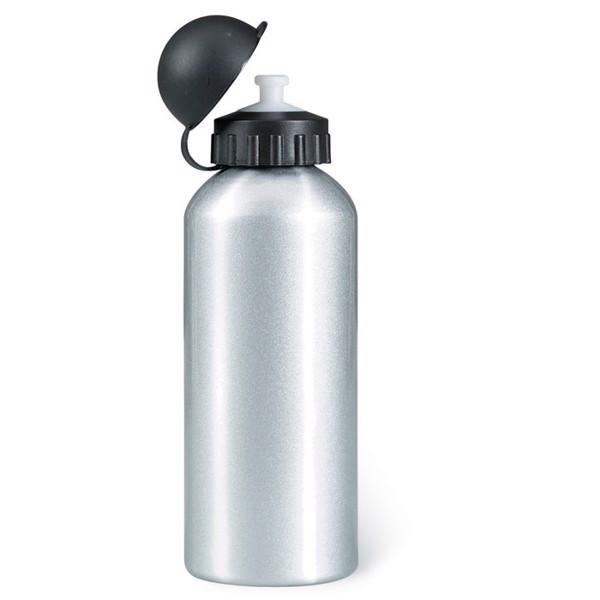 Trinkflasche Alu 600ml Biscing - mattsilber