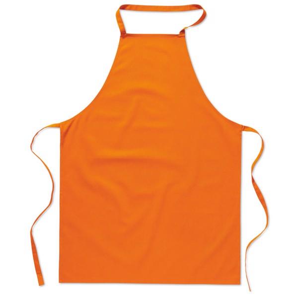 Kuchyňská bavlněná zástěra Kitab - orange