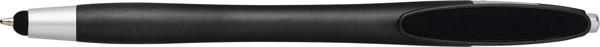Plastic ballpen, with rubber tip - Black