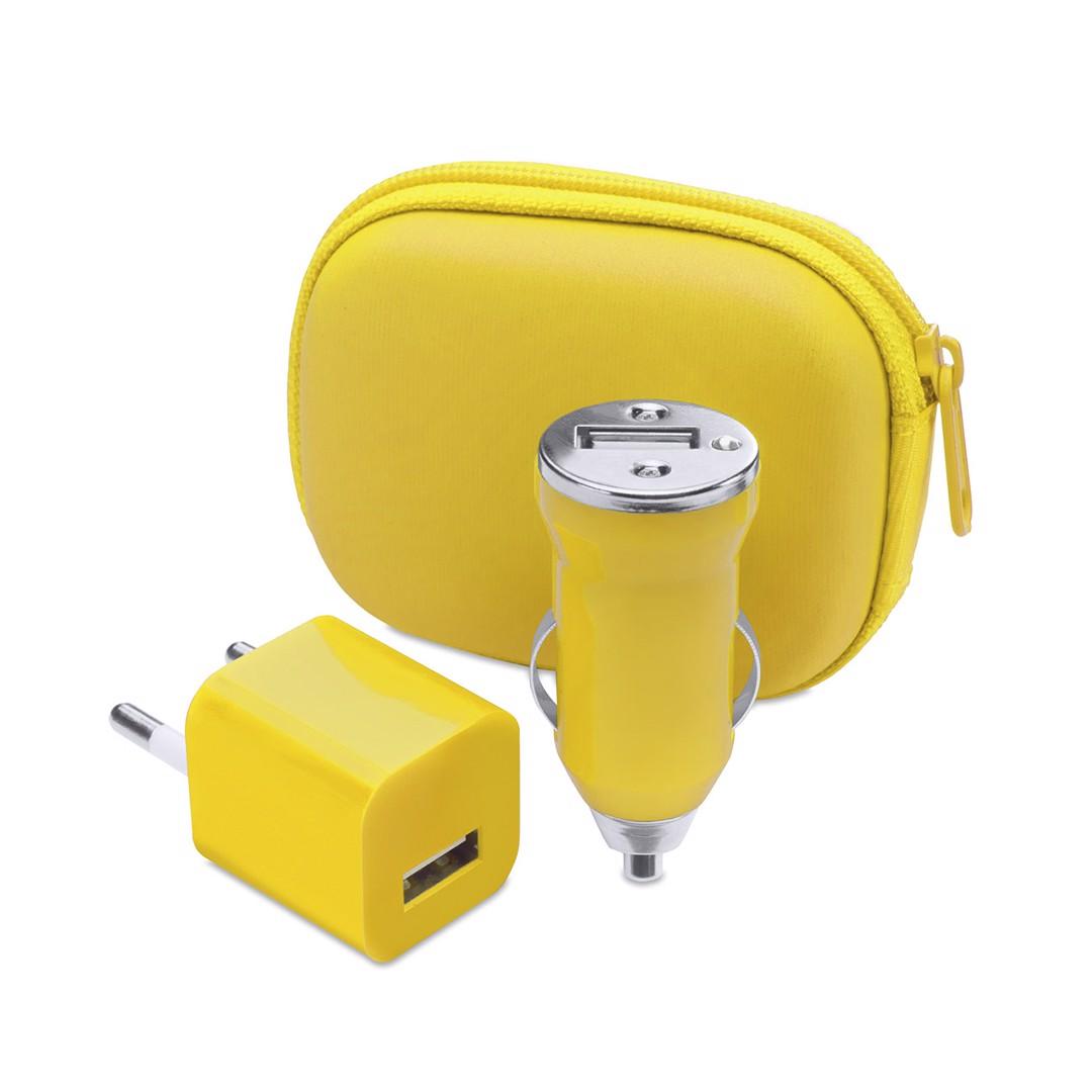 Set Carregador USB Canox - Amarelo