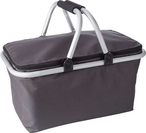 Polyester (320-330 gr/m²) shopping basket. - Grey