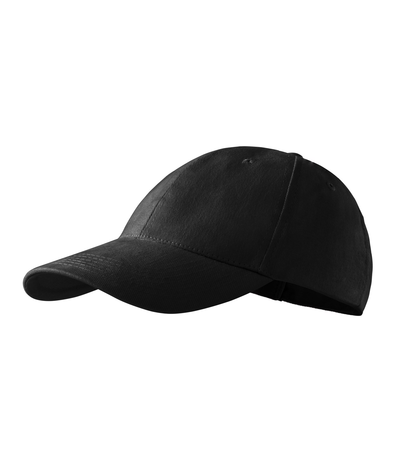 Cap unisex Malfini 6P - Black / adjustable
