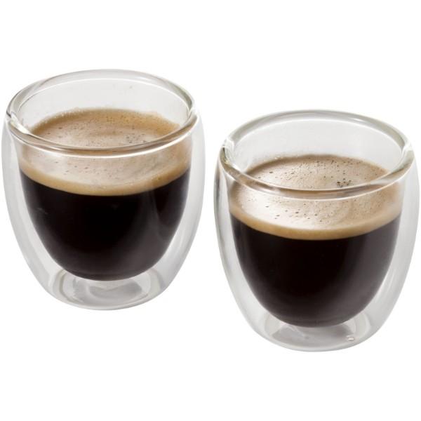 Dvojdílná skleněná sada na espresso Boda