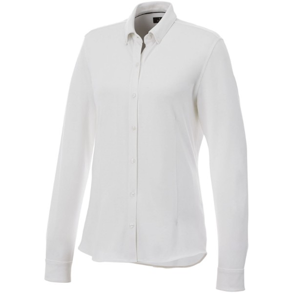 Bigelow long sleeve women's pique shirt - White / XXL