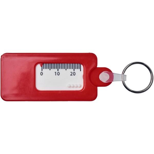 Klíčenkový měřič vzorku pneumatiky Kym - Červená s efektem námrazy