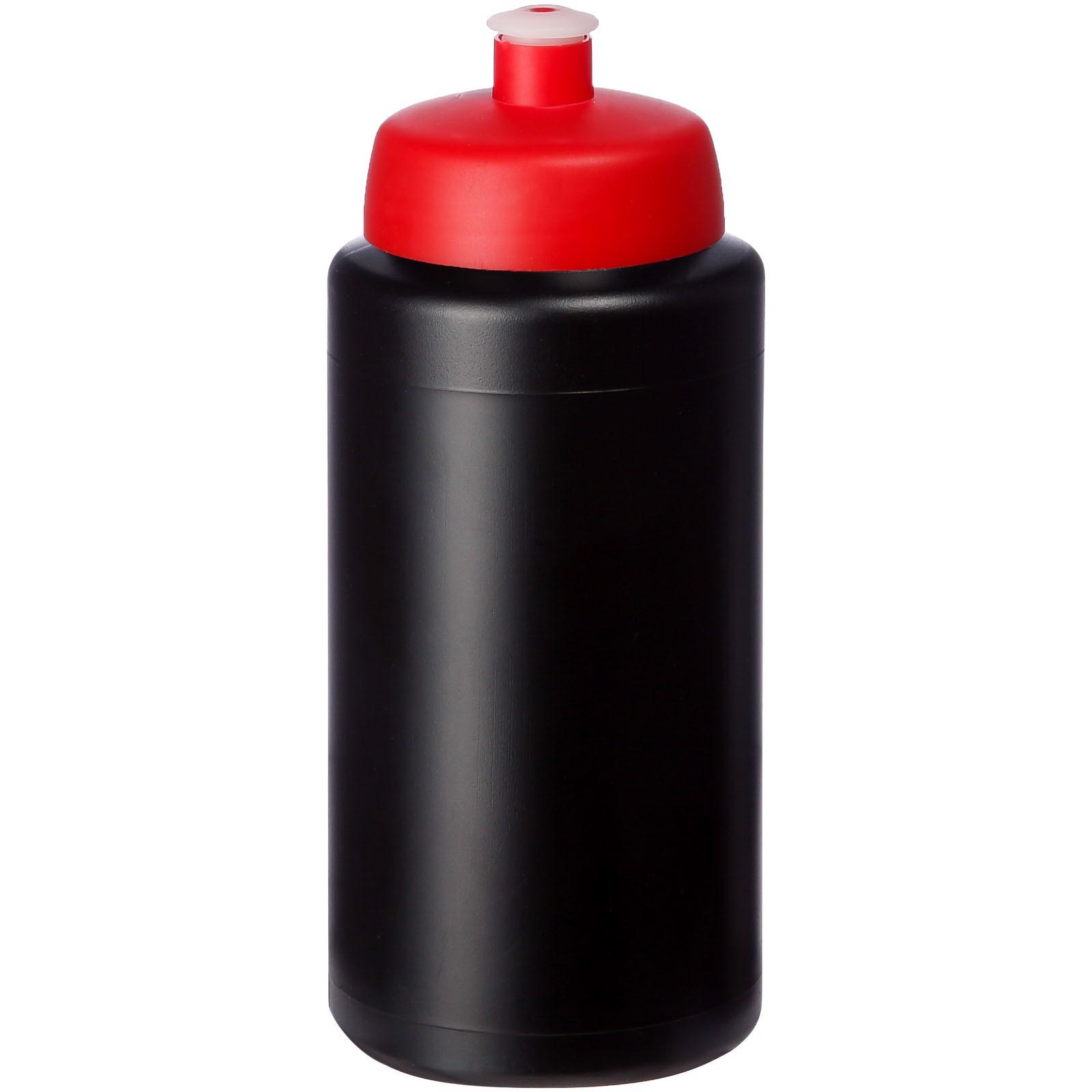 Baseline® Plus grip 500 ml sportovní lahev s víčkem na sport - Černá / Červená s efektem námrazy