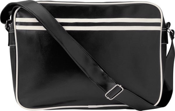 PVC messenger bag - Black