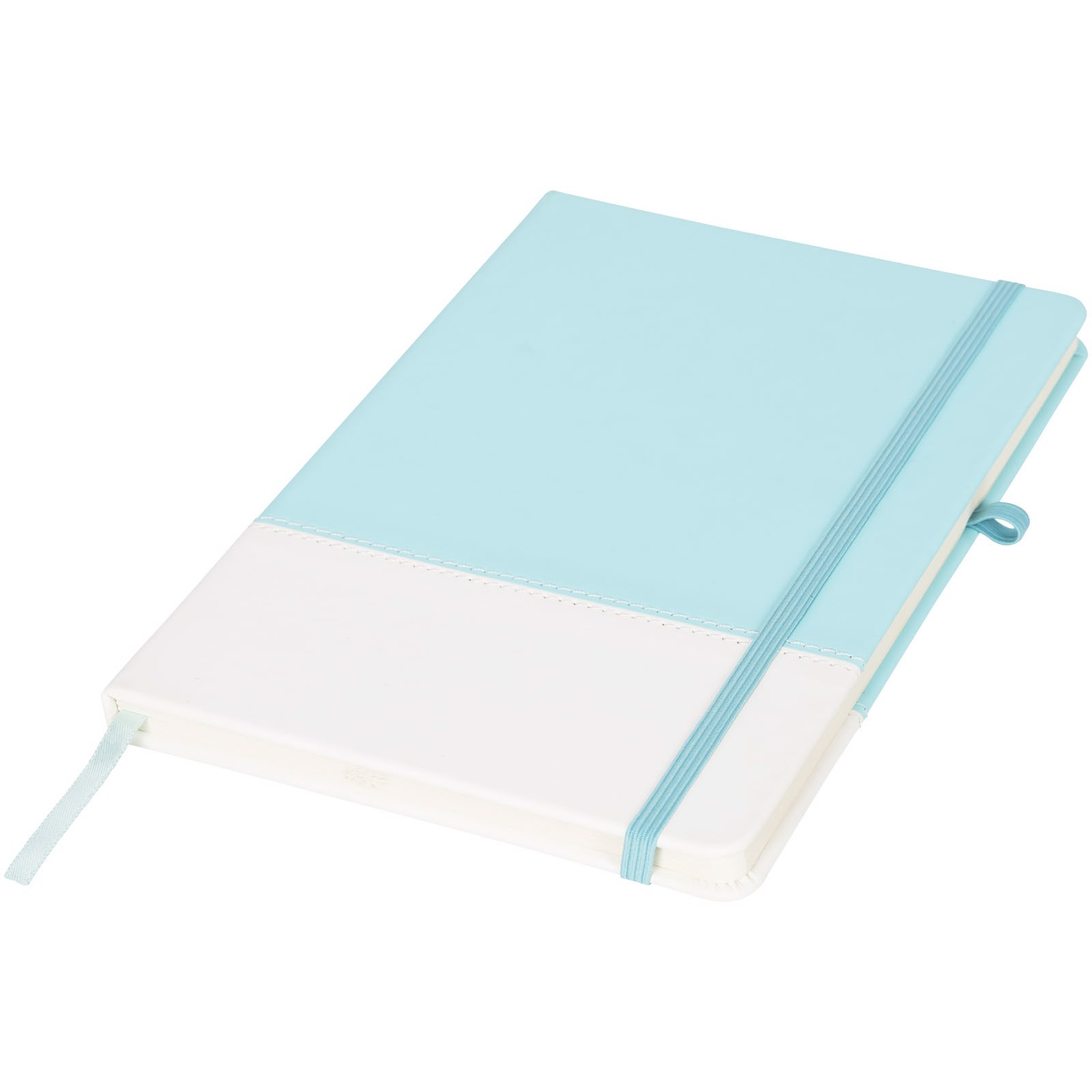 Two-tone A5 colour block notebook - Mint