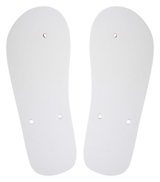 Customisable Beach Slippers - Strap CreaSlip - White / B
