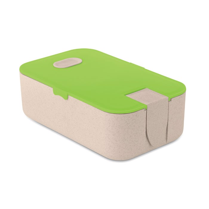 Lunchbox wheat straw fibre/PP Lunch2go - Lime