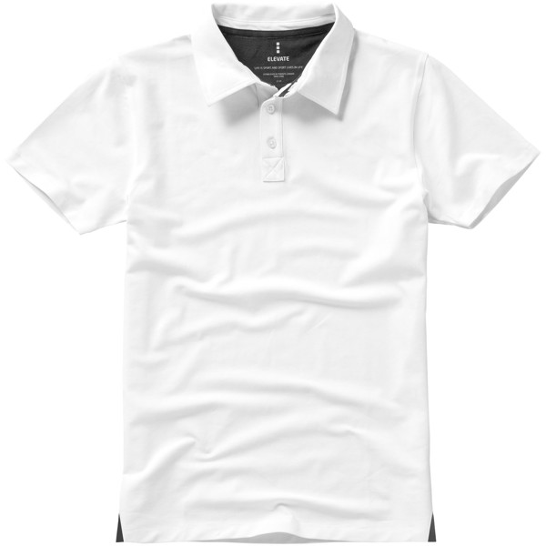 Markham short sleeve men's stretch polo - White / XXL