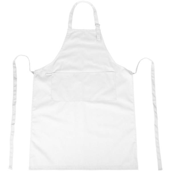 Zora apron with adjustable neck strap - White