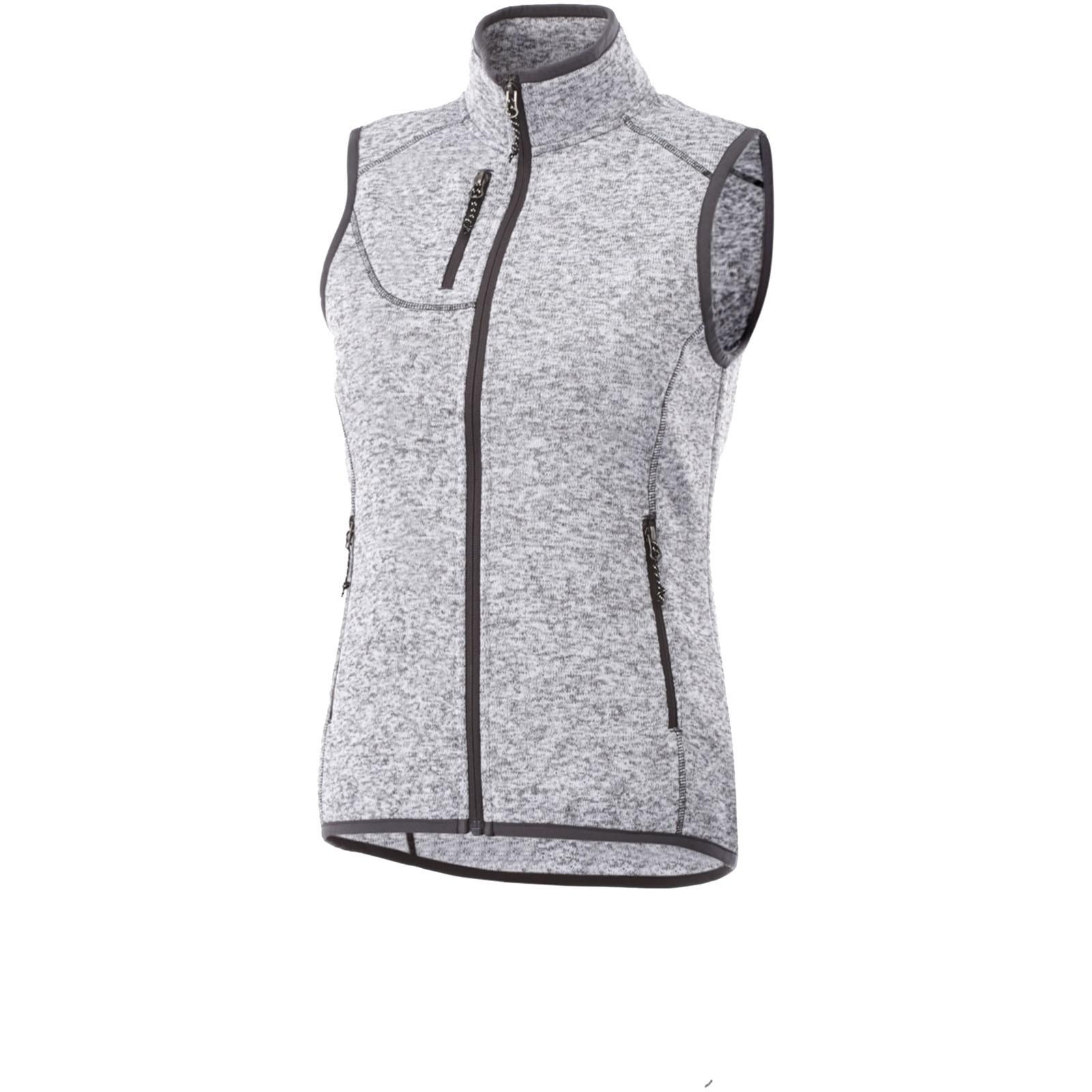 Fontaine ladies knit bodywarmer - Heather Grey / M