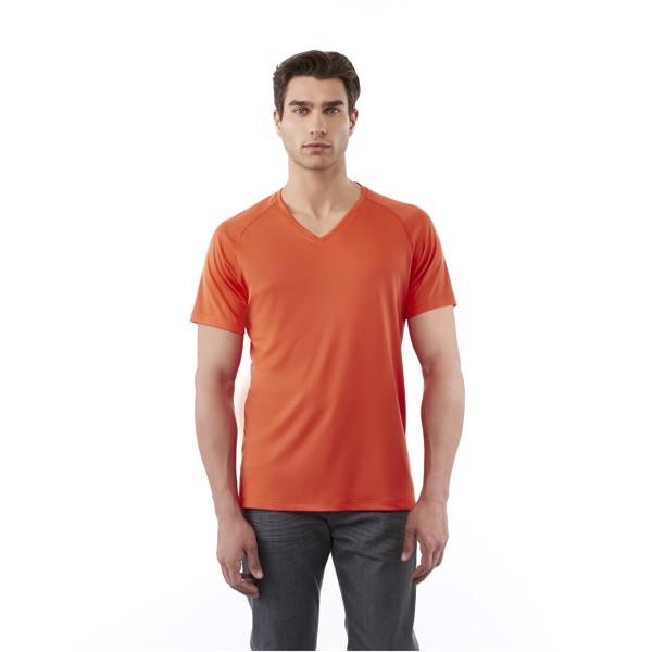 Amery short sleeve men's cool fit v-neck t-shirt - Solid black / S