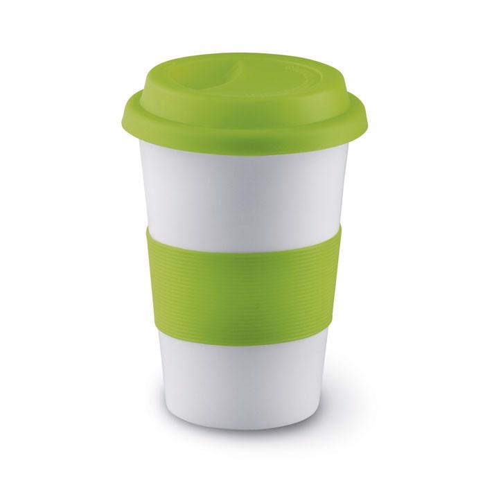 Ceramic mug w/ lid and sleeve Tribeca - Lime