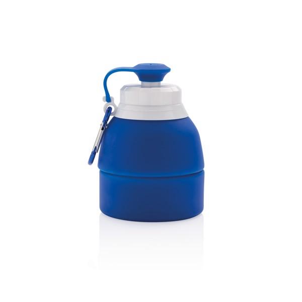 Összecsukható szilikon sport palack - Kék