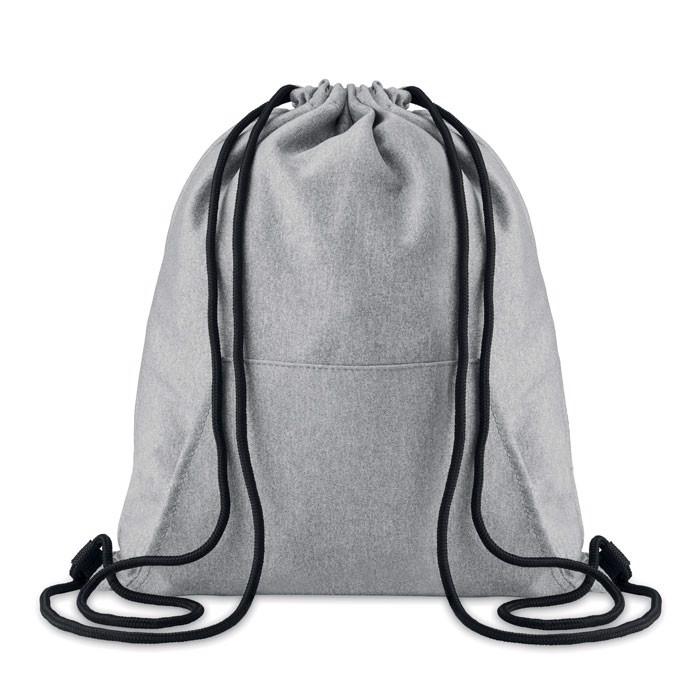 Drawstring bag with pocket Sweatstring - Grey