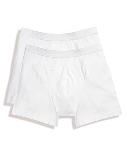 Classic Boxer (2 Pair Pack) - White / White / XL