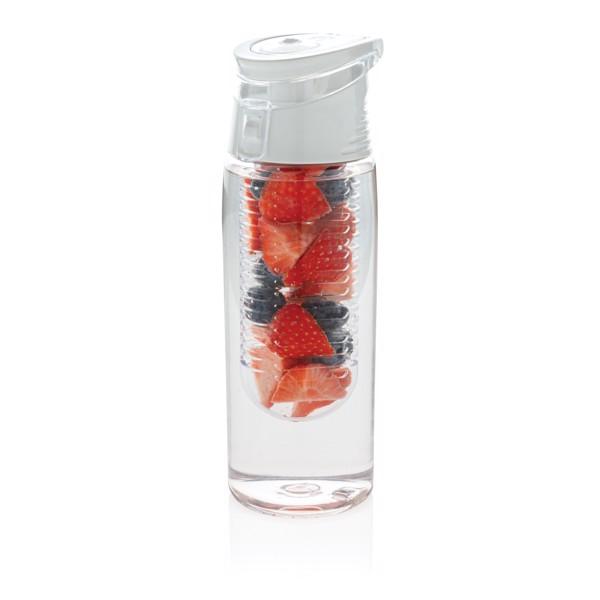 Uzavíratelná lahev s košíkem - Bílá