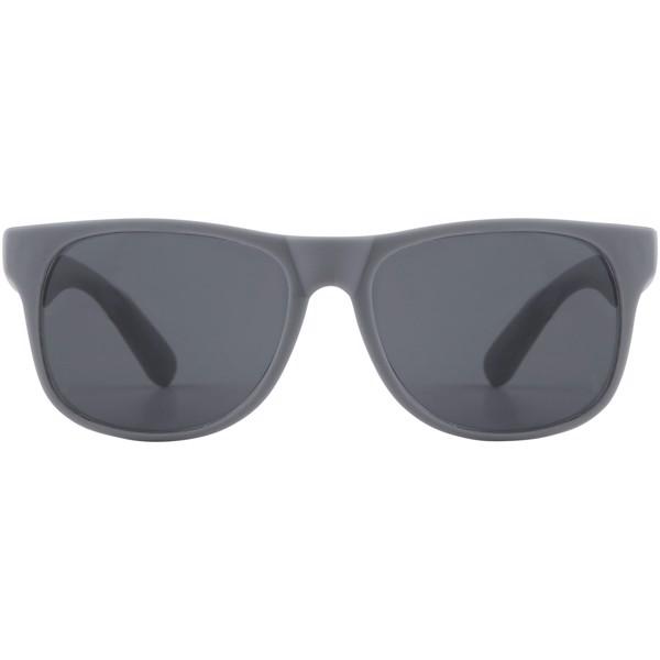 Jednobarevné sluneční brýle Retro - Šedá