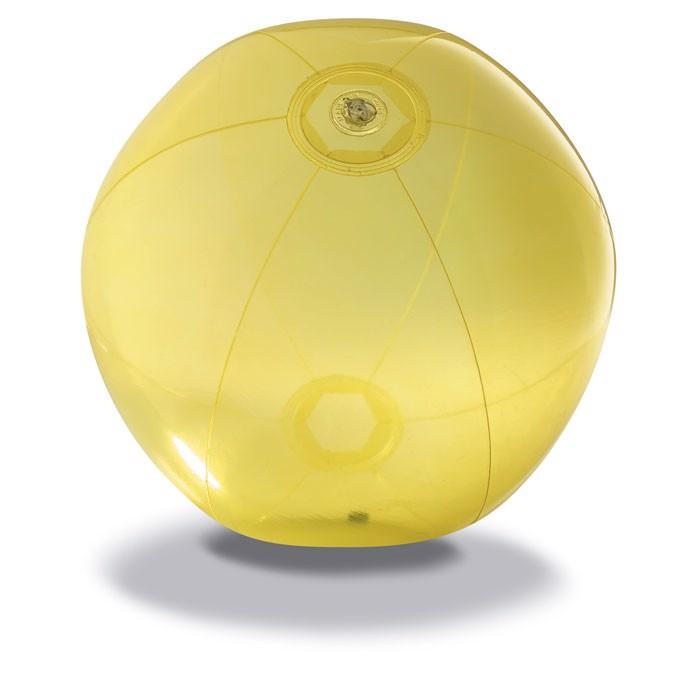 Transparent beach ball Aqua - Yellow