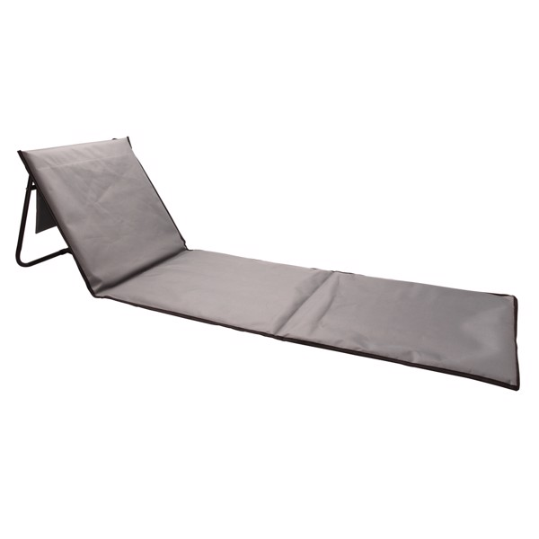 Foldable beach lounge chair - Grey