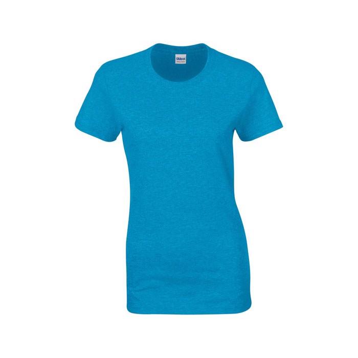 Ladies T-Shirt 185 g/m² Ladies Heavy Cotton 5000L - Heather Sapphire / XL
