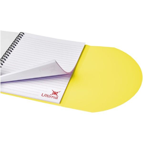 Poznámkový blok Curve A6 - Žlutá / Bílá