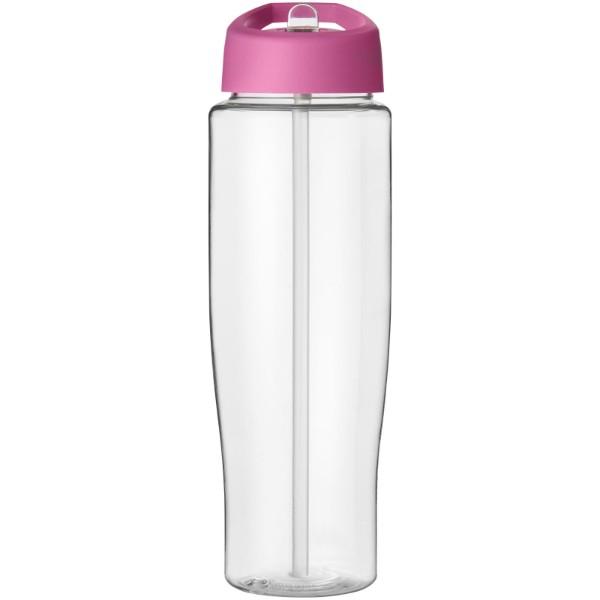 Sportovní láhev s víčkem s hubičkou H2O Tempo® 700 ml - Průhledná / Růžová