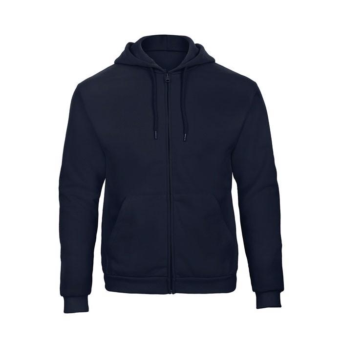 Herren Kapuzen Sweatshirt Hooded Full Zip Sweat Unisex - Navy / L