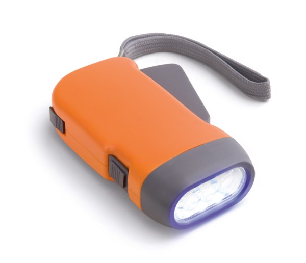 EDDIE. Dynamo flashlight - Orange