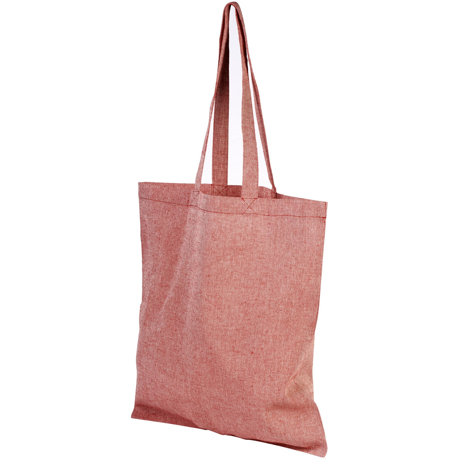 Pheebs 150 g/m² recycled tote bag - Heather red