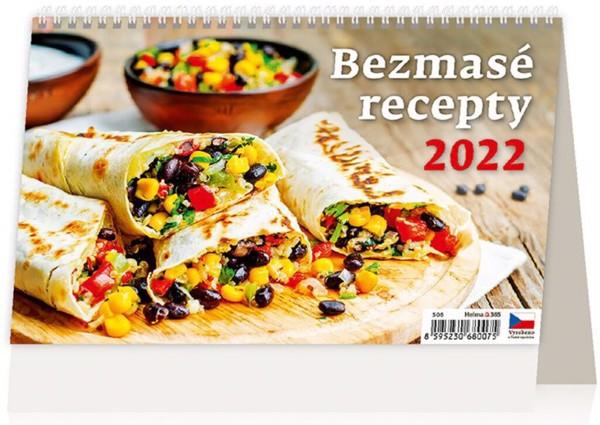Týdenní kalendář Bezmasé recepty 2022