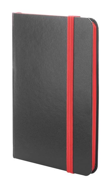 Notizbuch Kolly - Schwarz / Rot