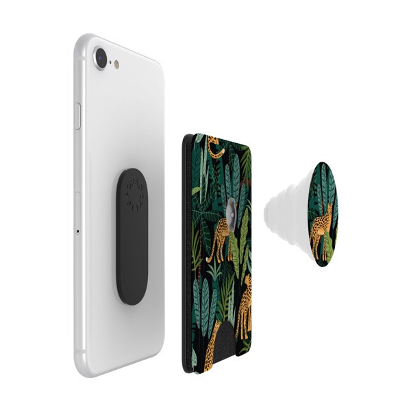 PopSockets® PopWallet+ card holder with PopGrip - White