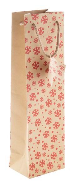 Christmas Gift Bag Majamaki W, Wine - Natural / Red