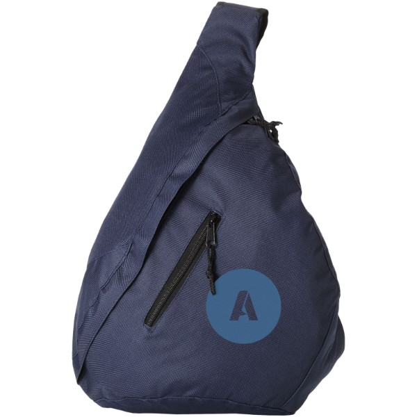Brooklyn mono-shoulder backpack - Navy