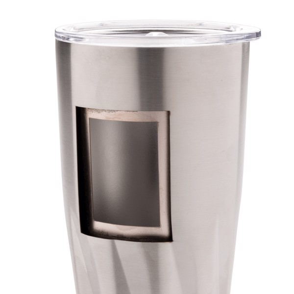 Termohrnek s vakuovo měděnou izolací - Stříbrná