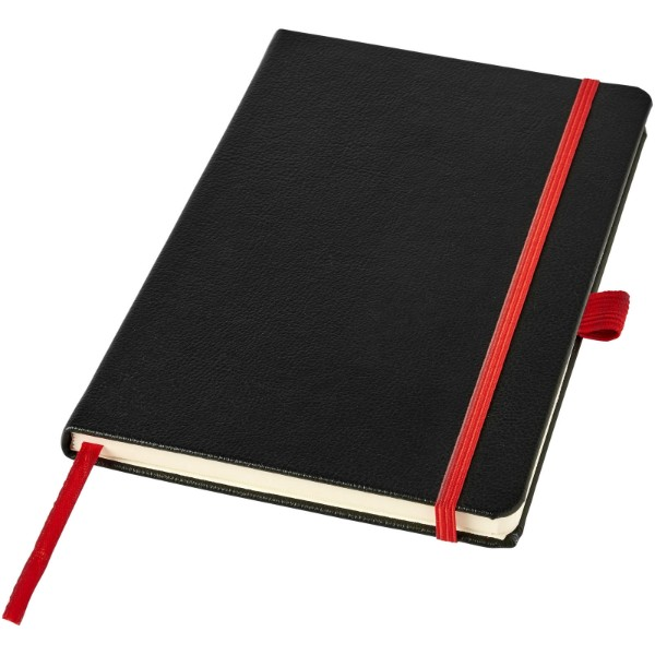 Lasercut A5 Notizbuch - Schwarz / Rot