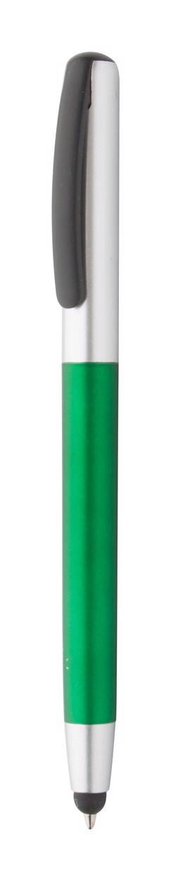 Dotykové Kuličkové Pero Fresno - Zelená / Stříbrná