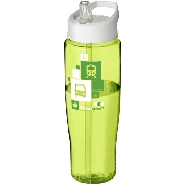 H2O Tempo® Bidón deportivo con tapa con boquilla de 700 ml - Lima / Blanco