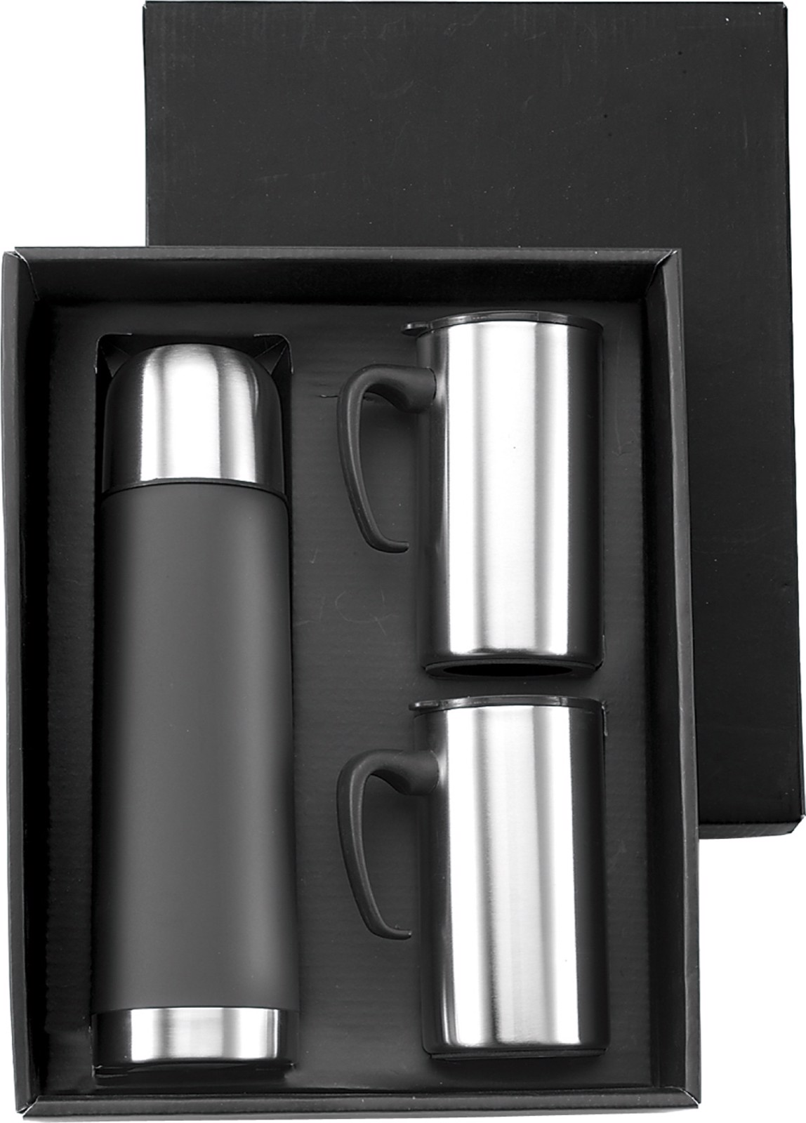 Stainless steel double walled flask - Black