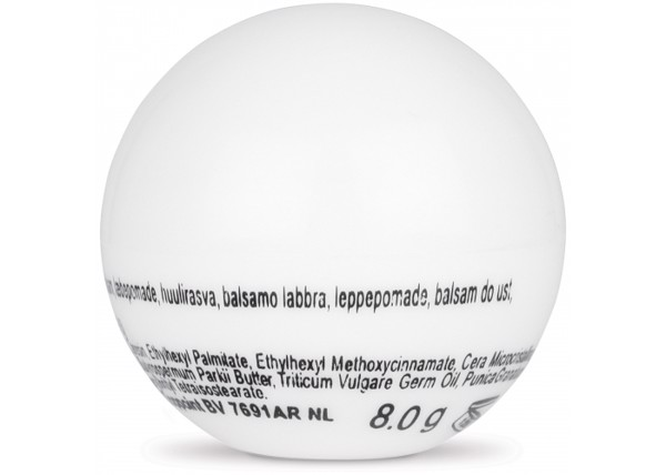 Lipbalm round ball - White